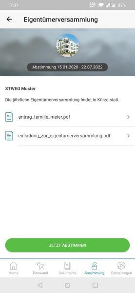 App - Abstimmung Start