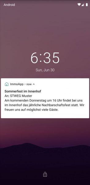 App - Push-Nachricht